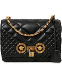 Versace - Medium Icon Quilted Leather Shoulder Bag - Lyst