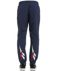 Reebok Vector Nylon Track Pants - Blue