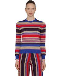 Stella Jean - Striped Lurex Wool Blend Jumper - Lyst