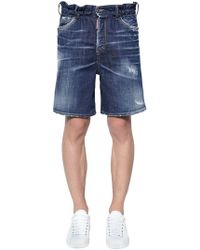 DSquared² - Marine Cotton Denim Shorts - Lyst
