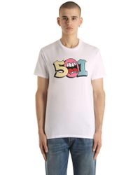 Levi's - 501 Printed Cotton Jersey T-shirt - Lyst