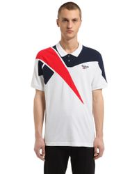 Reebok - Retro Cotton Piqué Polo Shirt - Lyst