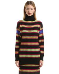 Marco De Vincenzo - Oversize Striped Wool Turtleneck Jumper - Lyst