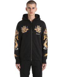 Maharishi - Dragon Embroidered Zip Jersey Sweatshirt - Lyst