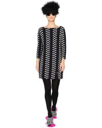 Gianluca Capannolo - Chequered Jacquard Knit Dress - Lyst