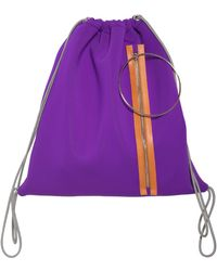 MM6 by Maison Martin Margiela - Zip & Hoop Neoprene Drawstring Backpack - Lyst