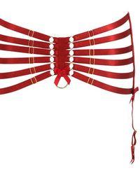 Bordelle - High Waist Webbed Suspender Belt - Lyst