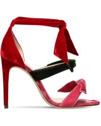Alexandre Birman - 105mm Lolita Velvet Sandals - Lyst