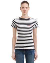 Maison Labiche - Crazy In Love Striped Jersey T-shirt - Lyst