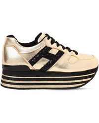 Hogan - 70mm Maxi 222 Metallic Leather Trainers - Lyst