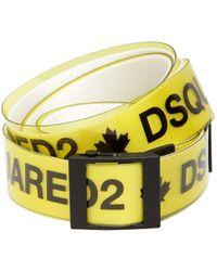 DSquared² - 40mm Rubber & Cotton Canvas Logo Belt - Lyst