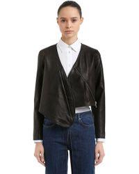 AALTO - Cropped Leather Bolero Jacket - Lyst