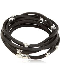 Tomasz Donocik - Sterling Stars & Leather Wrap Bracelet - Lyst