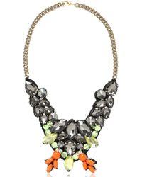 Ortys - Flower Necklace With Swarovski - Lyst