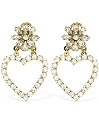 Shourouk - Mini Karen Crystal Earrings - Lyst