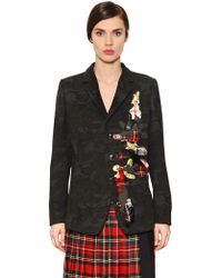I'm Isola Marras - Patches On Light Wool Blend Jacket - Lyst