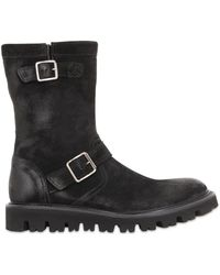 Pete Sorensen - Waxed Suede Leather Boots - Lyst