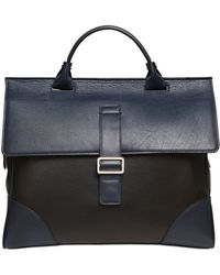 Mark Giusti - Two Tone Leather Briefcase - Lyst