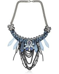 Ortys - Stones And Chains Necklace - Lyst