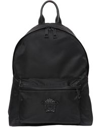 Versace - Medusa Logo Nylon Backpack - Lyst