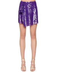 Alberta Ferretti - Sequined Mini Skirt - Lyst