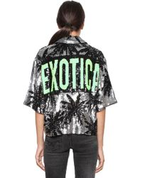 Filles A Papa - Exotica & Palms Sequined Jacket - Lyst