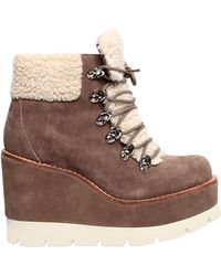 Jeffrey Campbell - Stivali In Camoscio Ed Eco Shearling 80mm - Lyst