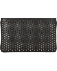 Christian Louboutin - Loubiposh Spiked Leather Clutch - Lyst