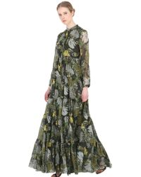 Larusmiani - Leaves Printed Silk Dress - Lyst
