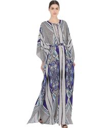 Larusmiani - Floral Printed Silk Caftan Dress - Lyst