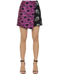 Caterina Gatta - Floral Fil Coupe & Printed Cady Skirt - Lyst