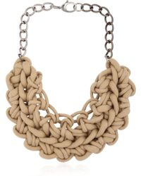 Alienina - Knotted Cotton Rope Necklace - Lyst