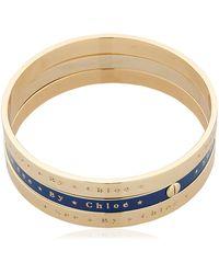 See By Chloé - Set Of 3 Bangle Bracelets - Lyst