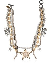 Venna - Stars Multi Chain Necklace - Lyst