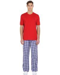 Brooks Brothers - Cotton Pyjama T-shirt & Trousers - Lyst