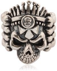 John Richmond - Skull & Bones Ring - Lyst