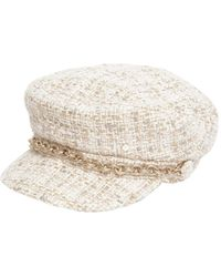 Maison Michel - New Abby Tweed Captain's Hat - Lyst