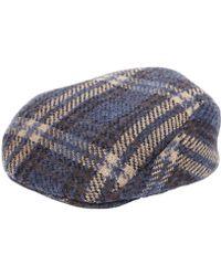 Lardini - Merino Wool Blend Tartan Flat Cap - Lyst