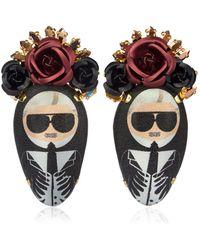 Bijoux De Famille - Karl Rosary Earrings - Lyst