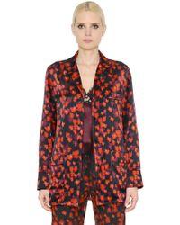 Givenchy - Floral Silk Satin Pyjama Style Shirt - Lyst