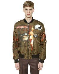 Givenchy - Heavy Metal Printed Satin Bomber Jacket - Lyst