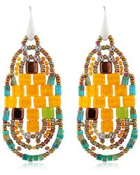 Ziio - Pixel Orange Beaded Earrings - Lyst