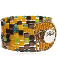 Ziio - Pixel Orange Beaded Bracelet - Lyst