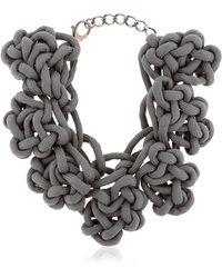 Alienina   Altrove Brass And Cotton Knot Necklace   Lyst