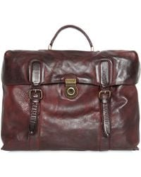 Officine Creative - Hand-painted Leather Briefcase - Lyst