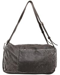 Giorgio Brato - Cracked Washed Leather Duffle Backpack - Lyst