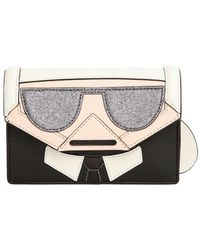 Karl Lagerfeld - Kocktail Karl Faux Leather Crossbody Bag - Lyst