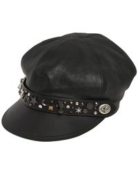COACH | Star Dust Studded Leather Biker Hat | Lyst