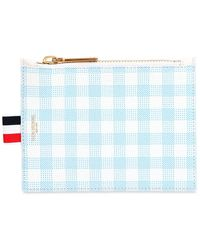 Thom Browne - Small Gingham Printed Grained Coin Purse - Lyst