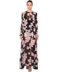 Giambattista Valli - Printed Silk Georgette Kimono Maxi Dress - Lyst
